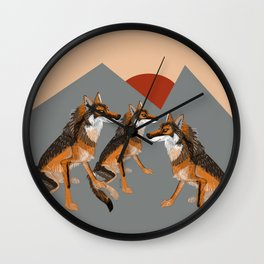 Wolves of the World: Iberian wolf (GREFA) Wall Clock