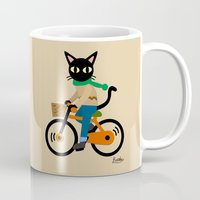 cycling Mugs featuring Whim's cycling by BATKEI