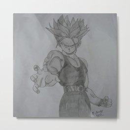 Dragonball Z Trunks Sketch Metal Print
