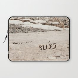 Follow Your Bliss Laptop Sleeve