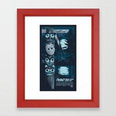 FRIDAY THE 13TH (01) Framed Art Print