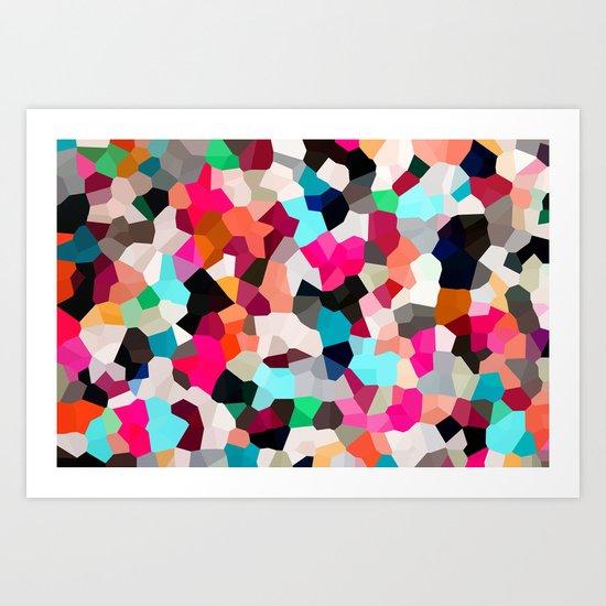 Pop Moon Love Art Print