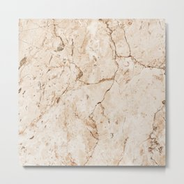 Light brown faux marble stone Metal Print