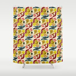 Party Tiki Shower Curtain