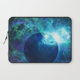 Abstract colorful shiny print graphic with planet space Laptop Sleeve