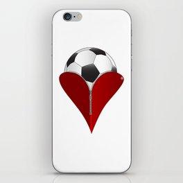 Love Soccer iPhone Skin