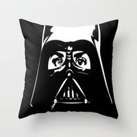 darth Throw Pillows featuring Darth  by shazii