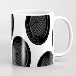 Riggo Monti Design #4 - Riggo Emblem Diagonal Pattern (Wht. Bkgrnd.) Coffee Mug