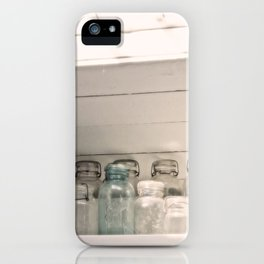 Vintage Jars in a White Kitchen iPhone Case
