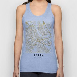 BASEL SWITZERLAND CITY STREET MAP ART Unisex Tank Top