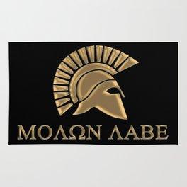 Molon lave-Spartan Warrior Rug