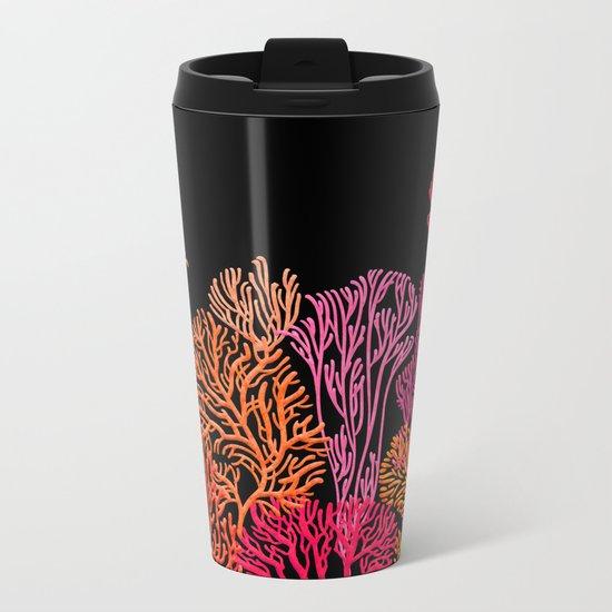 Coral Garden Metal Travel Mug