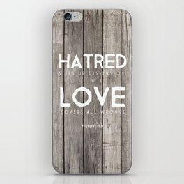 Love Covers All Wrongs iPhone Skin