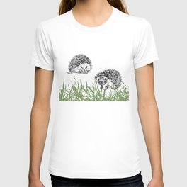 Hedgehogs print T-shirt