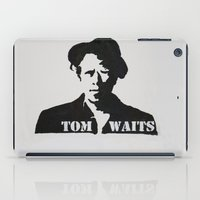 tom waits iPad Cases featuring Tom Waits Painting by All Surfaces Design