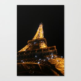 Eiffel at Night Canvas Print