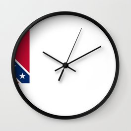Bloodless Banner Of The Confederacy Wall Clock