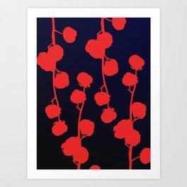 Cotton flower abstract Art Print