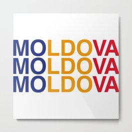 MOLDOVA Metal Print