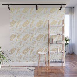 Beautiful Golden Australian Native Floral Print Wall Mural