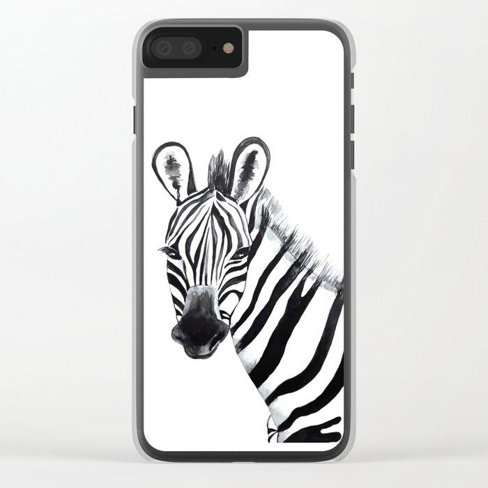 Zebra, animal Clear iPhone Case