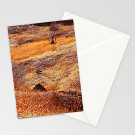 Valley in orange Stationery Cards