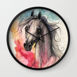 Rainbow Aura Wall Clock