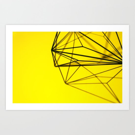 Yellow shape Art Print