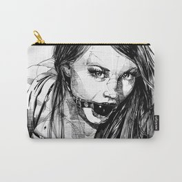 Ball Gagged Lady Portrait ©Yury Fadeev Carry-All Pouch