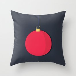Christmas Globe - Illustration Throw Pillow