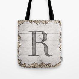 Neutral Monogram R Tote Bag