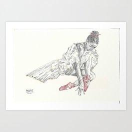 Ballerina red shoes Art Print