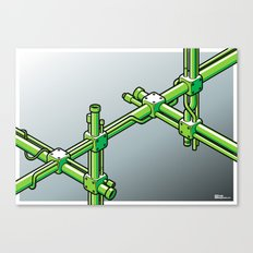 Impossible construction Canvas Print