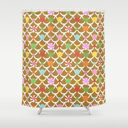 Gingerbread House Roof Shower Curtain