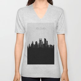 City Skylines: Abu Dhabi (Alternative) Unisex V-Neck
