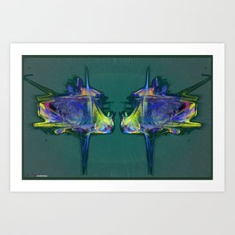 Frakblot Zoom Art Print