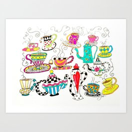 Coffee or Tea? Art Print