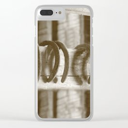Horseshoes Clear iPhone Case