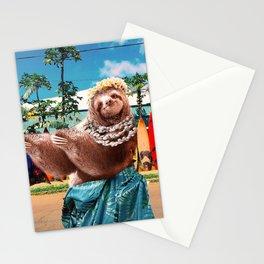 Cute Aloha Sloth Hawaiian Stationery Cards