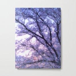 Periwinkle Lavender Flower Tree Metal Print