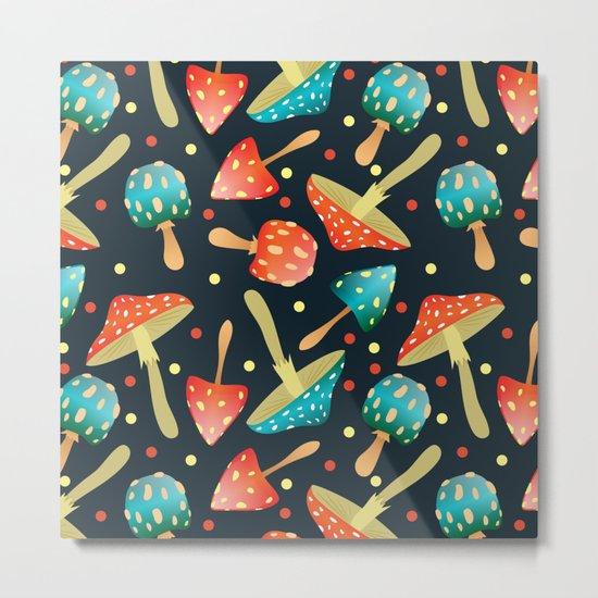 Bright mushrooms Metal Print