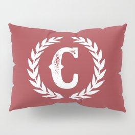 Rustic Red Monogram: Letter C Pillow Sham