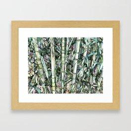 Nature green background Framed Art Print