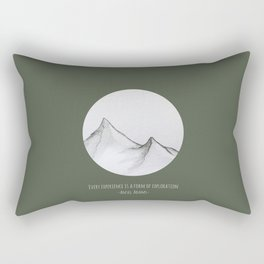 Experience is a Form of Exploration Rectangular Pillow