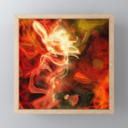 Fire Lights Framed Mini Art Print