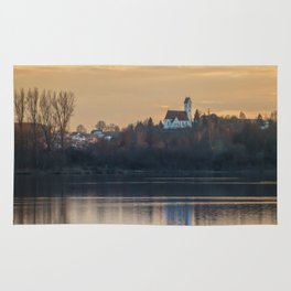 Nature lake and view to St.Martins Church Rug