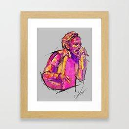 Eddie Veeder US tour 2016 Framed Art Print