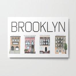 Brooklyn Brownstones Metal Print