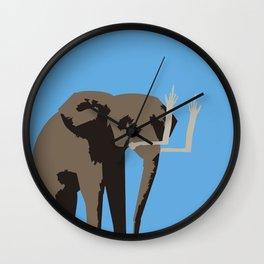 Angry Elephant Wall Clock