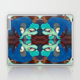 Inspired Blues Abstract Art By Omashte Laptop & iPad Skin